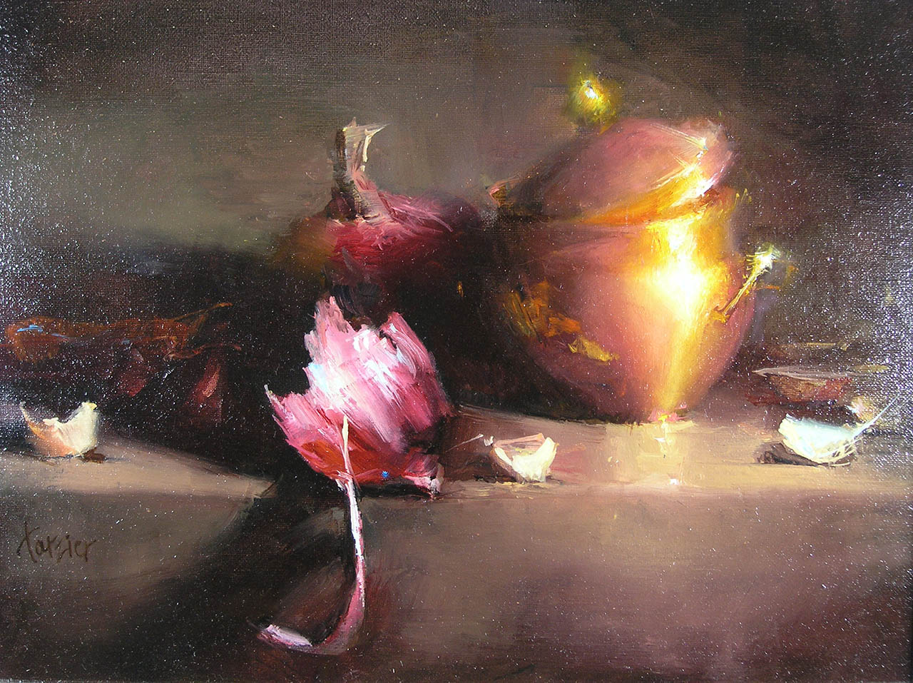 Copper and Onions, by Carol Tarzier