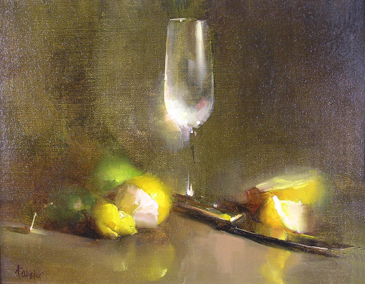 Lemons with Glass, by Carol Tarzier