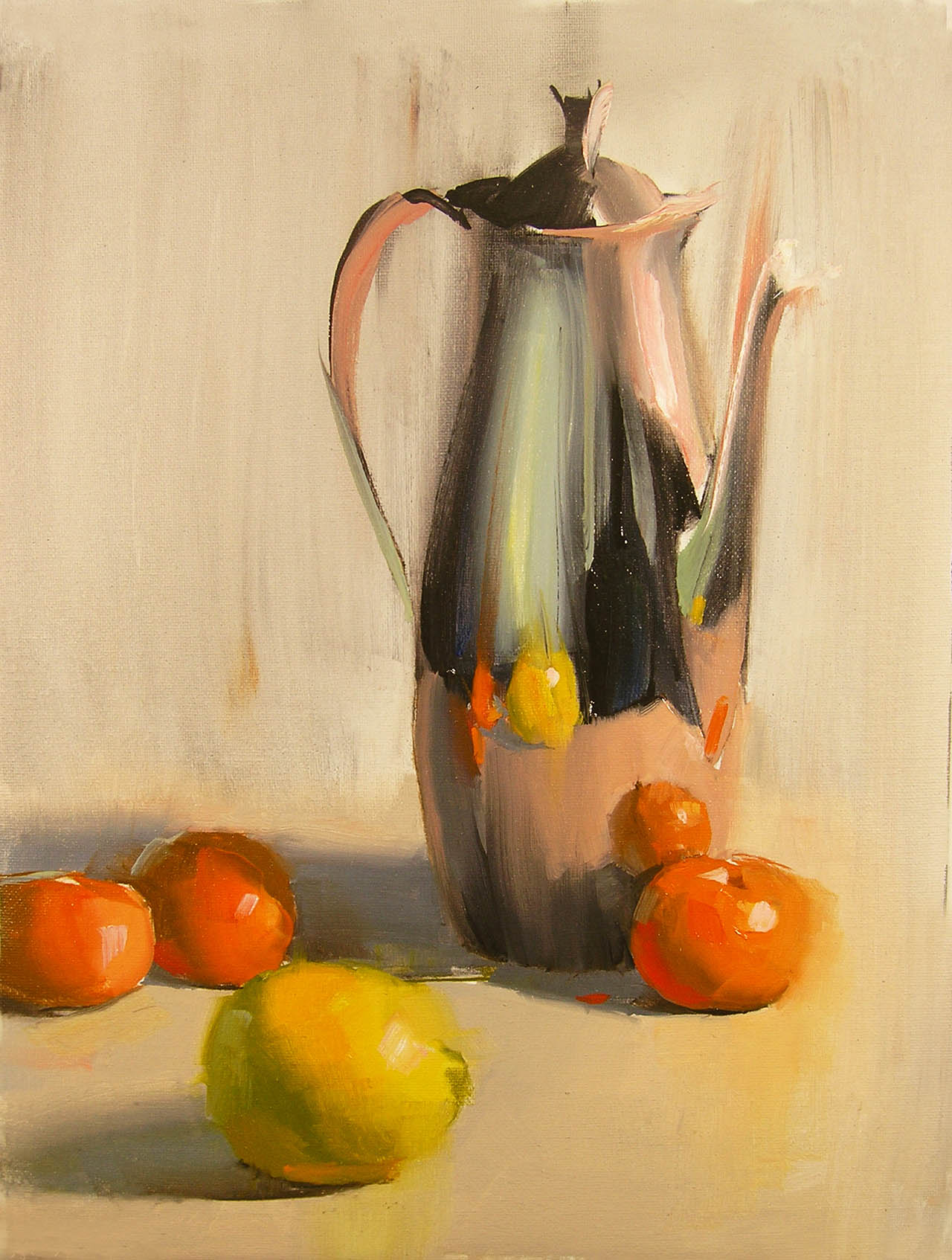 Silver and Tangerines, by Carol Tarzier