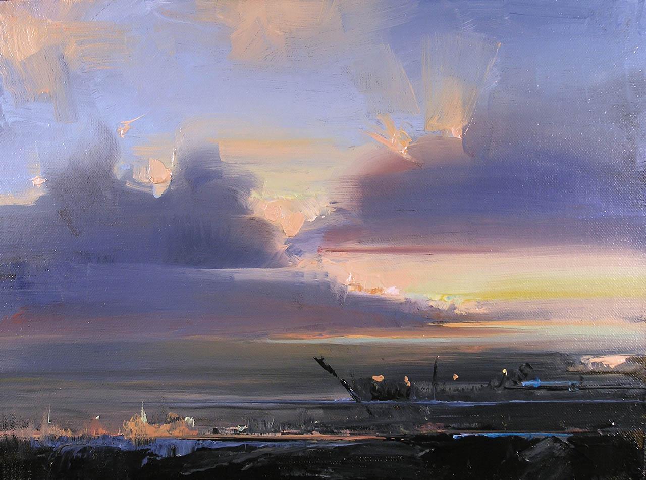 Storm Clouds, San Francisco Bay, by Carol Tarzier
