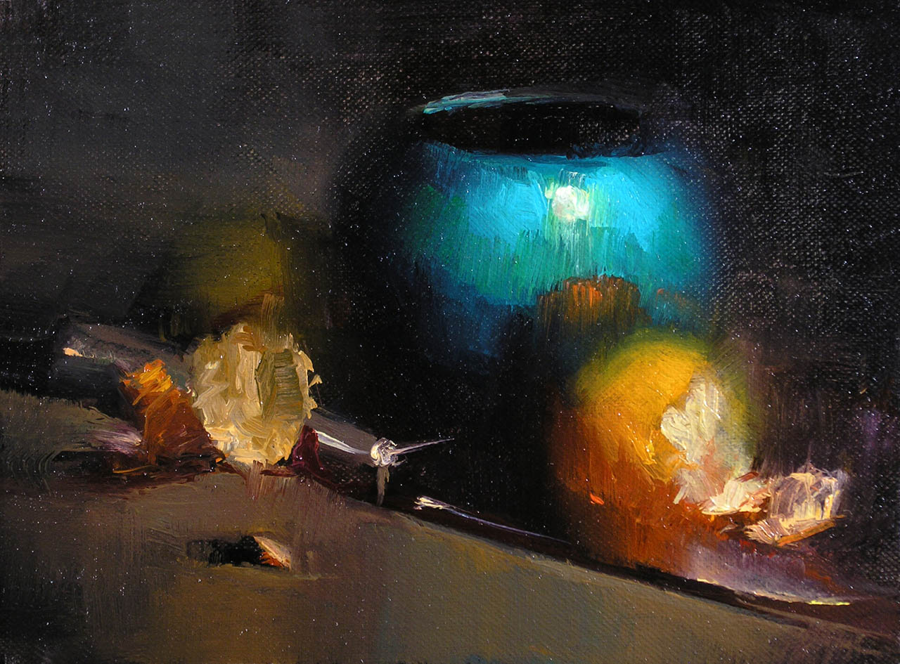 Study in Turquoise, by Carol Tarzier