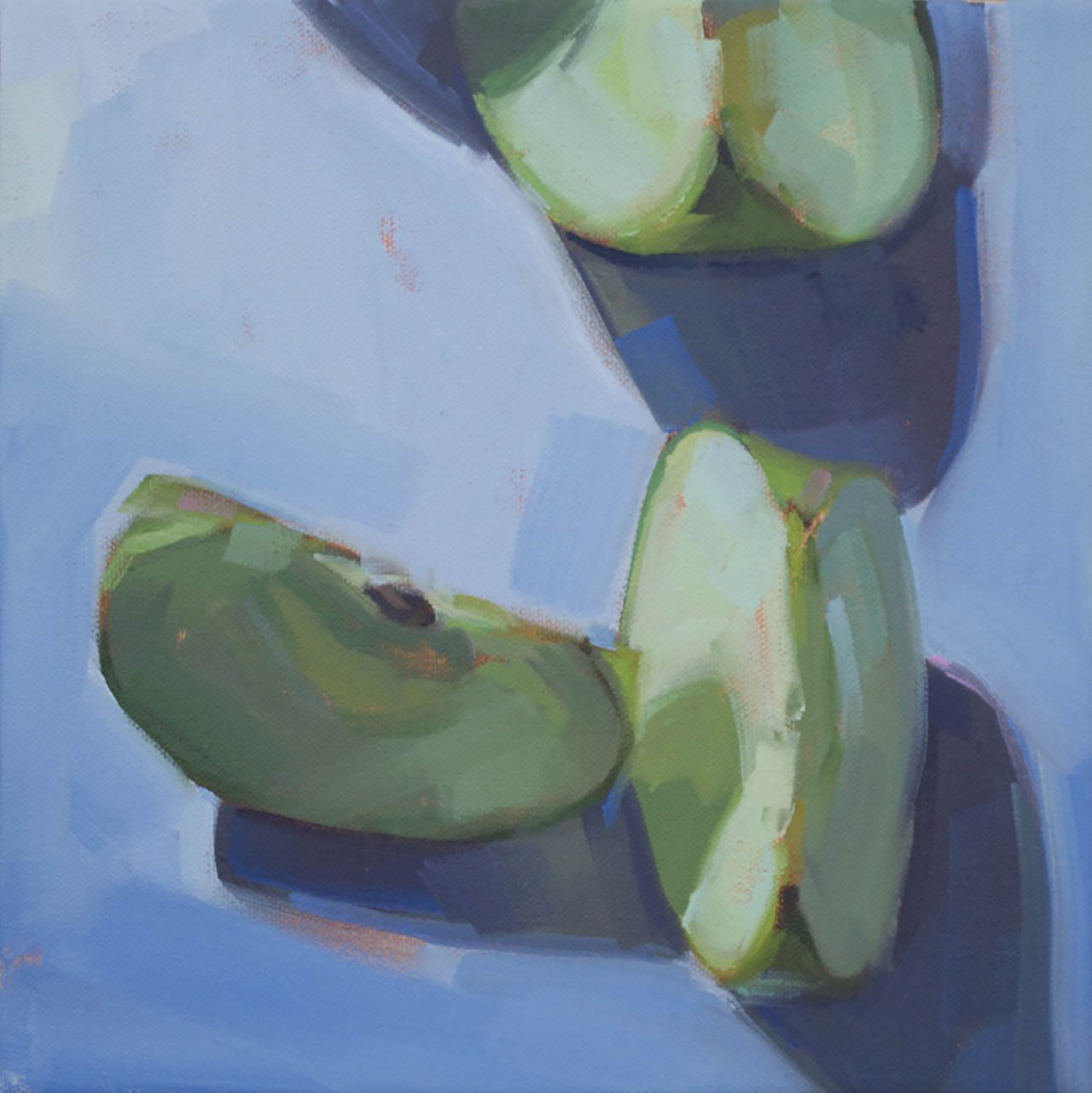 Apples on Ultramarine, by Samantha Buller