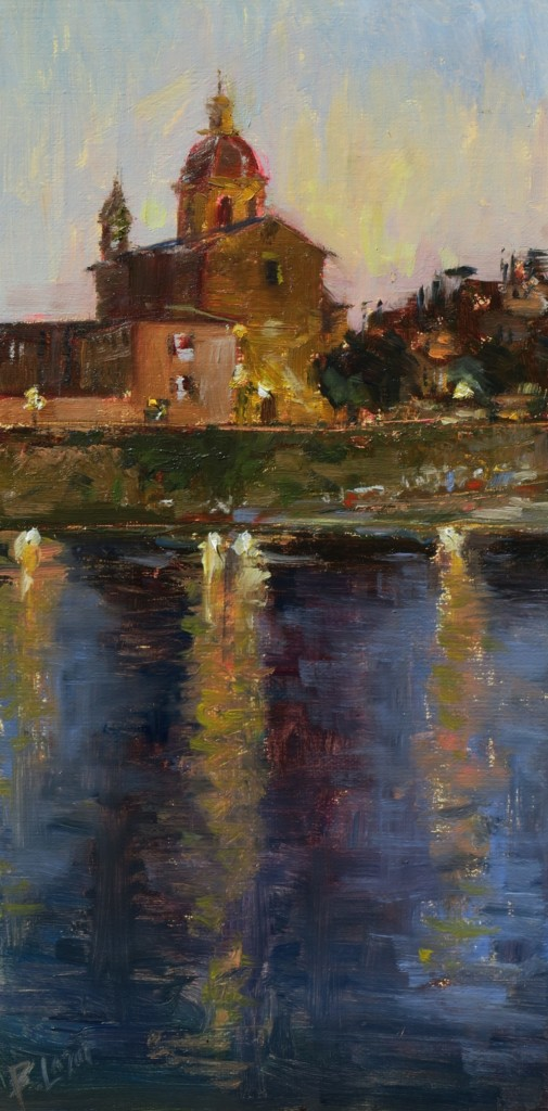 """""""Twilight Over the Arno"""" by Beverly Lazor"""