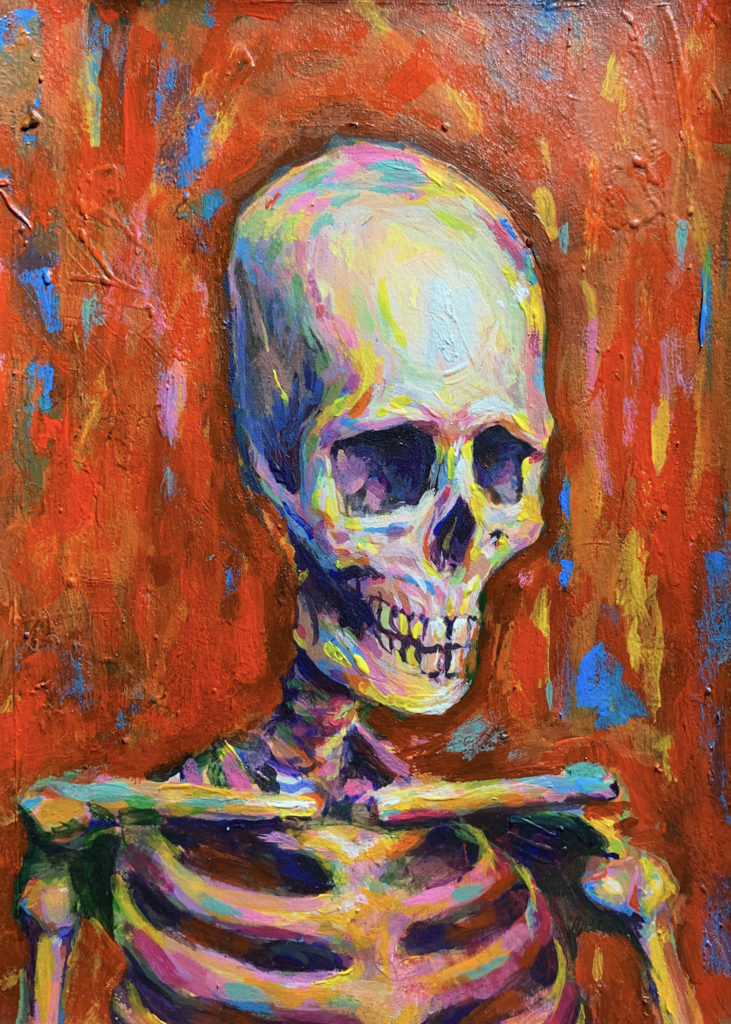 """""""Skull 2"""" by Edgar Mojica"""