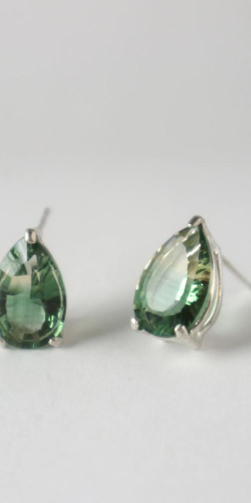 Green Tourmaline Post Earrings
