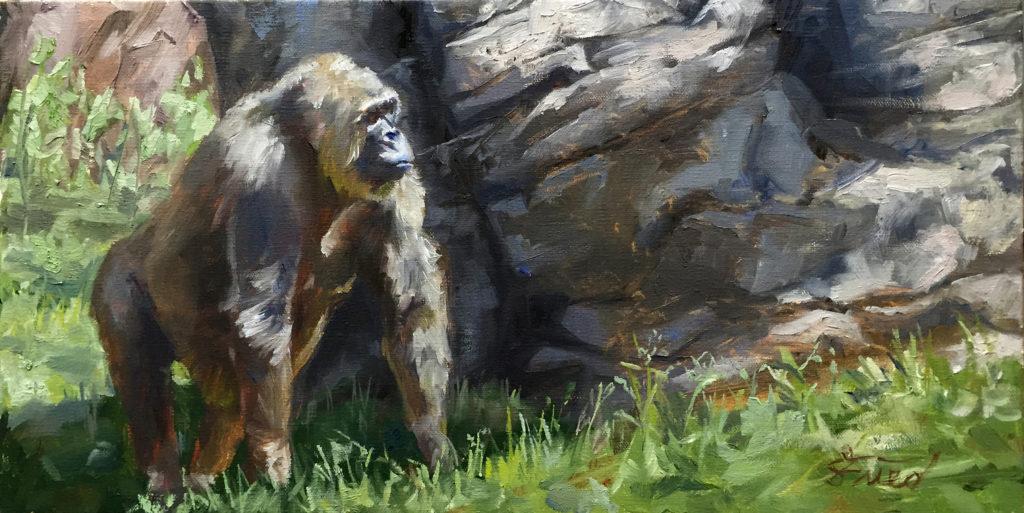 """Gorilla Walking"" by Samantha Fried"